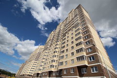 Modern block of flats elite urban housing Royalty Free Stock Photo