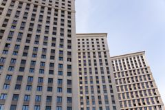Modern block of flats. Modern block of flats in Moscow. Russia Royalty Free Stock Photos