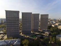 Modern block of flats. Modern block of flats in Moscow. Russia Stock Image