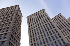 Modern block of flats. Modern block of flats in Moscow. Russia Royalty Free Stock Image