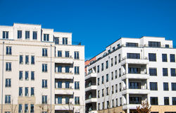 Modern blocks of flats in Berlin Stock Photos