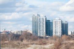 Modern blocks scenery Stock Photo