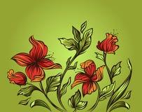 Modern bloemenontwerp Stock Afbeelding