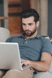 Modern blogger. Royalty Free Stock Images