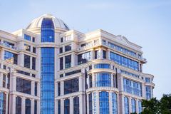 Modern blue apartment building Royalty Free Stock Image