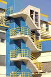 Modern blue apartments block Stock Photos