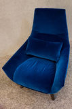 Modern blue armchair Royalty Free Stock Photo