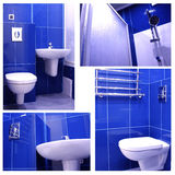 Modern Blue Bathroom Royalty Free Stock Images