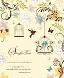 Modern blue bird party invitation Stock Image