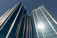 Modern Blue Business Building Royalty Free Stock Images