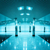 Modern blue business hall Stock Photo
