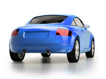 Modern blue car back view Stock Image