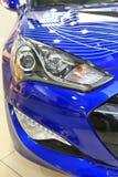 Modern blue car Royalty Free Stock Photo