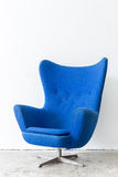 Modern Blue Chair Stock Photo