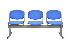 Modern blue chair isolated Royalty Free Stock Photo