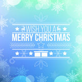 Modern blue chistmas card design Stock Photography