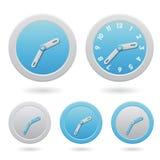 Modern Blue Clocks  on White Royalty Free Stock Photography