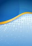Modern blue folder golden border Royalty Free Stock Photo