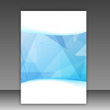 Modern blue geometrical folder template Royalty Free Stock Photos