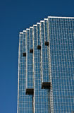Modern Blue Glass Angled Office Tower Royalty Free Stock Image