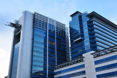 Modern blue glass building Royalty Free Stock Photo