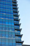 Modern blue glass building Royalty Free Stock Photography