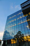 Modern blue glass building Royalty Free Stock Image