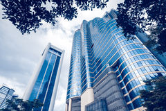 Modern blue glass buildings Royalty Free Stock Photography