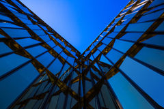Modern blue glass business building (business center) Royalty Free Stock Images
