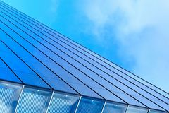 Modern blue glass business center Royalty Free Stock Photography