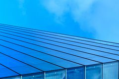 Modern blue glass business center Stock Image