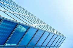 Modern blue glass business center Royalty Free Stock Images