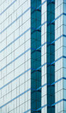 Blue glass wall of of modern building Royalty Free Stock Images