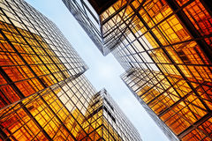 Modern blue glass wall. Of office building Royalty Free Stock Photos