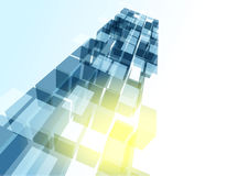 Modern blue glass wall of office building Royalty Free Stock Image