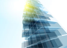 Modern blue glass wall of office building Royalty Free Stock Images