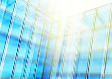 Modern blue glass wall of office building Royalty Free Stock Photo
