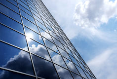 Modern blue glass wall. Of skyscraper Royalty Free Stock Photography