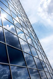 Modern blue glass wall. Of skyscraper Royalty Free Stock Image