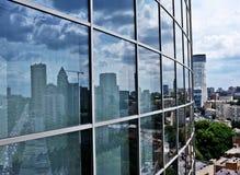 Modern blue glass wall. Of skyscraper Stock Image