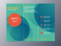 Modern blue green brochure template Stock Images