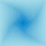 Modern blue halftone swirly wave Stock Image