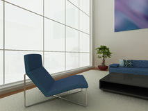 Modern blue interior Royalty Free Stock Photo