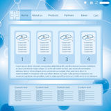 Modern blue medical website template form Royalty Free Stock Photo