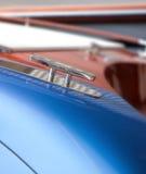 Modern blue motor  boat detail Stock Image