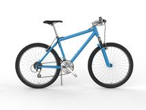 Modern blue mountain bike - side view Stock Image