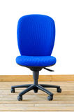 Modern blue office chair Stock Photography