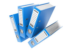 Modern blue office folders with documents Royalty Free Stock Photography