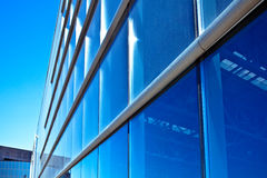 Modern blue office wall Stock Photography