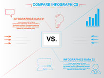 Modern blue and orange compare infographics Stock Images